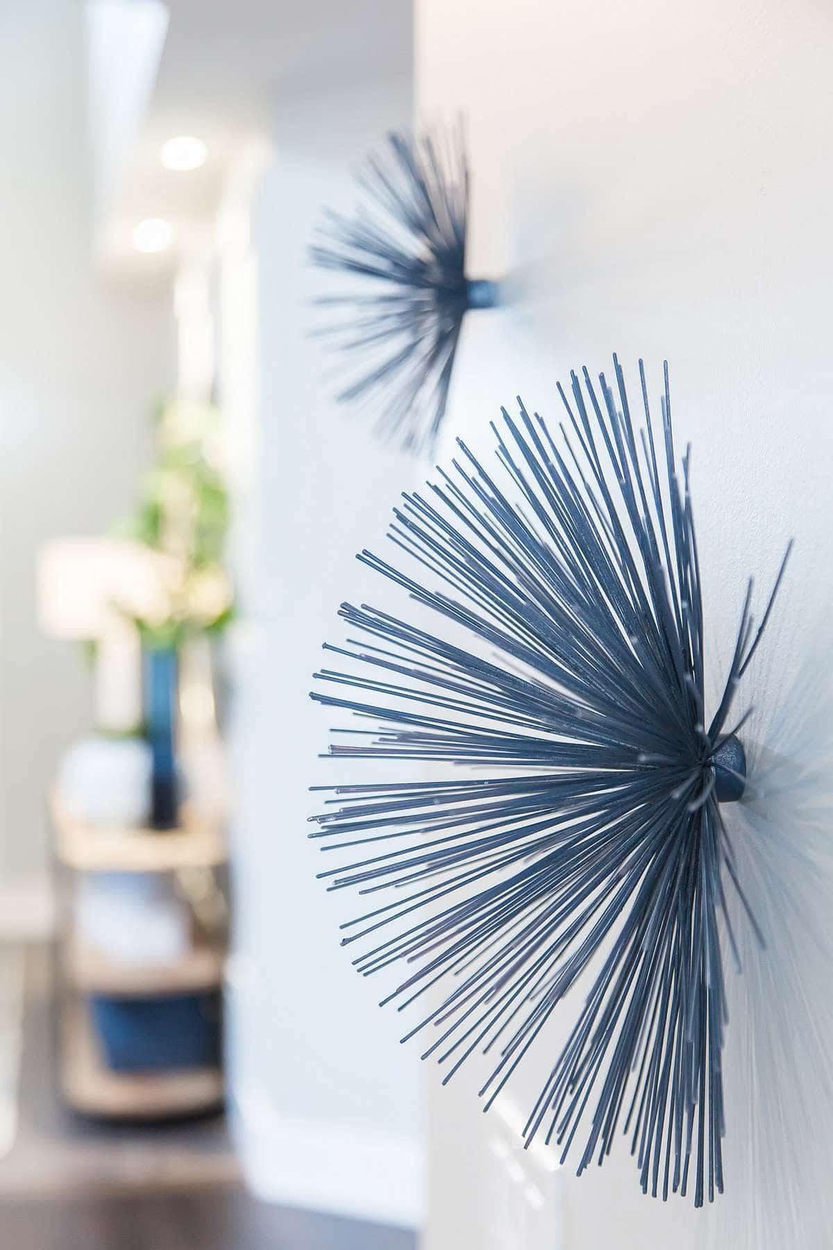 Blue Sea Urchin Wall Decor